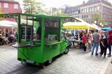 Das PAULmobil bringt Suppen und feine Kost aus PAULs Manufaktur.